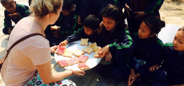 Frühstück in Nepal
