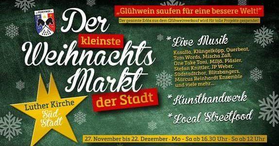 TeilenMachtGlücklich auf dem kleinsten Weihnachtsmark von Köln