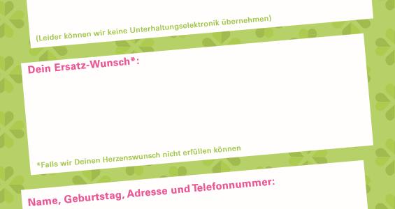 Glück(s)bringer Wunschzettel im neuen Design